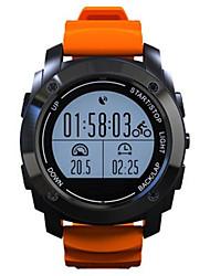 Men's Smart Watch Fashion Watch Digital Silicone Band Black Orange