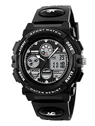 Kid's Sport Watch Digital Watch Digital Calendar Water Resistant / Water Proof PU Band Black