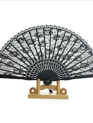 Cartoon Folding Silk Fan Handheld Fan Hollow Out Hand Folding Fans Outdoor Dancing Wedding Party