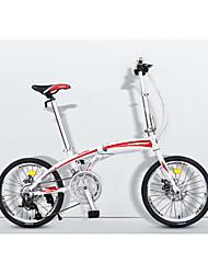 Bicicleta Dobrável Ciclismo 16 velocidade 20 polegadas Microshift 24 Freio a Disco Sem Amortecedor Quadro de Liga de Alumínio Dobrável