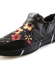 Для мужчин Мокасины и Свитер Удобная обувь Тюль Весна Осень Повседневные Для прогулок На плоской подошве Черный Черно-белый Цвет экрана