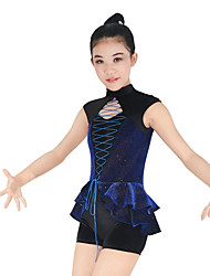 MiDee Jazz Leotards Women's / Children's Performance Spandex / Polyester Cascading Ruffle / Criss-Cross / Split Front 2 Pieces Sleeveless
