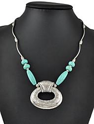 Women's Pendant Necklaces Statement Necklaces Turquoise Geometric Drop Jewelry Turquoise Alloy Basic Fashion Vintage Bohemian