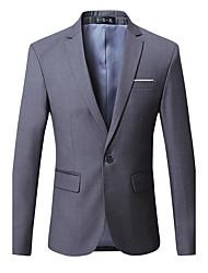 Men's Plus Size  Fashion Slim Solid Color A Single Breasted Blazer Cotton Spandex