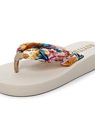 Women's Slippers & Flip-Flops Comfort Slippers Light Soles EVA Summer Casual Dress Wedge Heel Coffee Beige Black 1in-1 3/4in