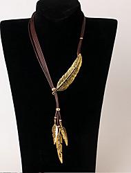 Жен. Ожерелья с подвесками В форме листа Сплав Мода Бижутерия Назначение Свадьба Для вечеринок День рождения Повседневные