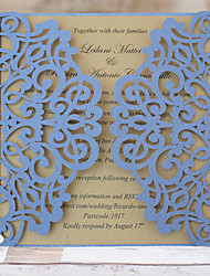 Blue Lace Wedding Invitations Elegant Wedding Invitation Cards - Set of 50