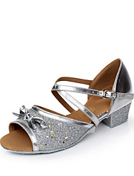 Women's Kids' Dance Shoes Sparkling Glitter Paillette Synthetic Glitter Flats Sandals Sneakers Indoor Sequin Buckle Sparkling Glitter