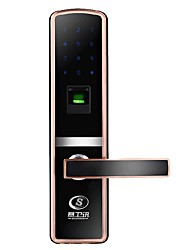 Anti - Theft Door Electronic Smart Lock Password Fingerprint Emergency Key Unlock Lock Body 24 * 240CM