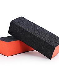 PINPAI 1PCS Nail Polish Block Rectangle Down To Manicure Frustration On All Sides Black Cubes Sand Nail Tool Quantity