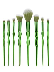 8 Pcs Gourd Shape Makeup Brush Tools Kit Mermaid Make Up Brush Beauty Green Blush Powder Foundation Eyebrow Brush