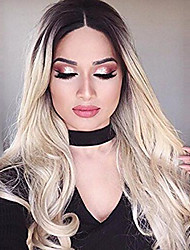 Hot Selling Black To Blonde Mixed Color Long Wave Women Wigs Heat Resisting Cospaly Syntheitc Wigs