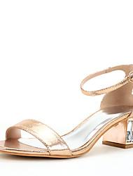 Damen Sandalen D'Orsay und Zweiteiler Glanz Sommer Herbst Hochzeit Kleid Party & Festivität Kristall Glitter Ausgehöhlt Kristallabsatz