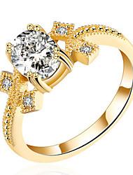 Women's Band Rings Cubic Zirconia Basic Love Sexy Fashion Personalized Cute Style Luxury Classic Elegant Crystal Zircon Alloy Geometric