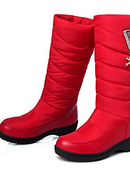 Women's Boots Comfort PU Winter Casual Comfort Blue Ruby 3in-3 3/4in