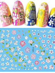 1pcs New Nail Art 3D Sticker Beautiful Flower Pattern Romantic Style DIY Beauty Nail Art Design F261