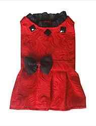 Chien Robe Vêtements pour Chien Décontracté / Quotidien Princesse Blanc Noir Rouge