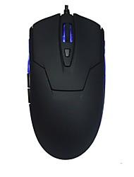 Офис с чистой черно-синей мышью