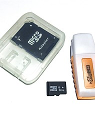 32GB MicroSDHC TF Memory Card with USB Card Reader and SDHC SD Adapter