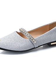 Women's Flats Comfort PU Summer Dress Buckle Flat Heel Silver Gold Flat