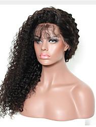 Mujer Pelucas de Cabello Natural Cabello humano Encaje Frontal Frontal sin Pegamento 130% Densidad Peluca Negro Negro Corto Medio Largo