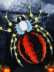 Design casual halloween 3d papel cena da flor aranha jardim de infância acessórios pendente halloween pendurado ornamentos halloween
