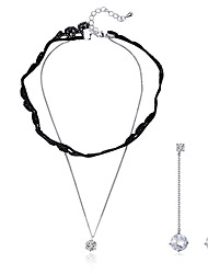 Beadia Jewelry Sets 925 Sterling Silver Necklace & Earrings For Women