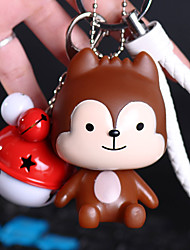 Bag / Phone / Keychain Charm Cute Cartoon Toy Jingle Bell Phone Strap PVC