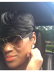 Горячие продажи удобные черные короткие человеческие волосы парики