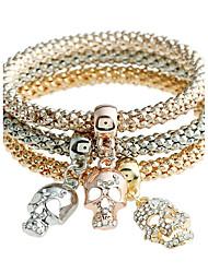Femme Bracelets Rigides Diamant Vintage Adorable Hip-Hop Classique Métallique Strass Alliage Forme de Cercle Bijoux PourRendez-vous Plein