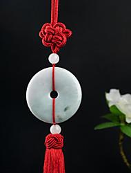 Diy pendentes automotivos de madeira mão artesanal de nó de moda lucky vermelho tassel carro pendente&Ornamentos jade