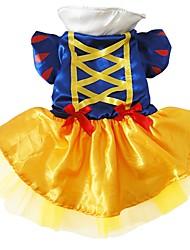 Dog Costume Dog Clothes Cosplay Princess Blue