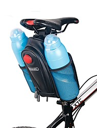 ROSWHEEL Bicycle Saddle Bag W/ 2 Water Bottle Pouch & LED Tail Light Seat Post Storage Pannier Pack Bycicle Bolsa