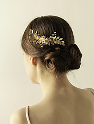 Gold Bridal Comb Leaf Headpiece Wing Hair Comb-Wedding Special Occasion Anniversary Birthday Party/ Evening Hair Combs Flowers