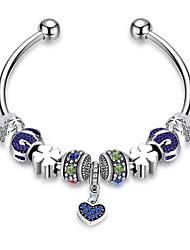 Femme Bracelets de rive Mode Cristal Plaqué argent Alliage Forme de Cercle Bijoux Pour Quotidien Décontracté Rendez-vous