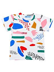 Boys' Tee Graffiti Print Cotton Summer Short Sleeve Regular Kids Boys Girls Tops T Shirt Fashion T-Shirts