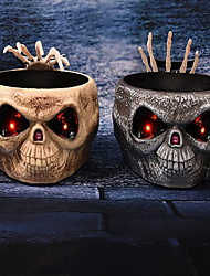 Halloween Control By Induction Ghost Hand Plate Sugar Bowl Electric Toys Glowing Skull Skull Ornaments