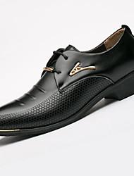 Для мужчин обувь Микроволокно Весна Лето Осень Зима Формальная обувь Туфли на шнуровке Заклепки Назначение Повседневные Черный Коричневый
