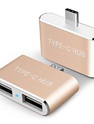 USB 2.0 Adaptateur, USB 2.0 to USB 2.0 Type C Adaptateur Mâle - Femelle