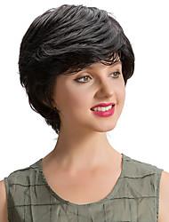 Charmantes perruques cheveux noirs noirs et noirs