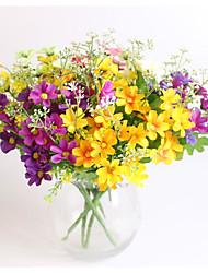 2 Piece / Set  Bouquet 7 branch 28 heads cute silk daisy artificial decorative flower wedding flower bouquet home room table decoration