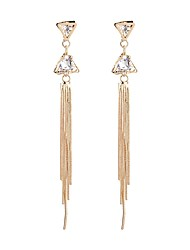 Women's Drop Earrings Crystal Tassel Fashion Imitation Diamond Alloy Triangle Shape Jewelry For Party Daily Stage