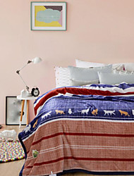 Flanelle Animaux Polyester couvertures