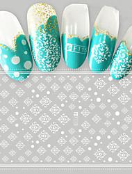 1pcs Nail Art Fashion 3D Sticker Beautiful White Pattern Nail Art Design DIY Decoration F115