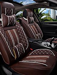 Le nouveau siège d'auto coussin housse de siège en cuir quatre saisons de glace générale entourée de cinq sièges de voiture familiale café