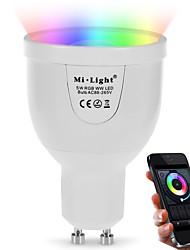 5W Ampoules LED Intelligentes A60(A19) 12 SMD 5730 500 lm Couleur double source lumineuse RGB + BlancCapteur infrarouge Intensité