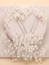 Perla Artificial Celada-Boda Ocasión especial Cumpleaños Fiesta/Noche Oficina/Carrera Peinetas 3 Piezas