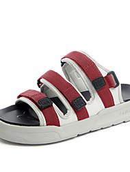 Men's Sandals Gladiator Comfort Light Soles Fabric Summer Casual Outdoor Magic Tape Flat Heel Walking Shoes