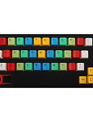 Abs 37 клавиш подсветка радуги keycaps желтый для механической клавиатуры