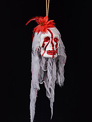 Halloween assombrado casa decoração barra suportes borbulhante simulação sangrando cemitério terrorista fantasma cabeça vestir pingente de